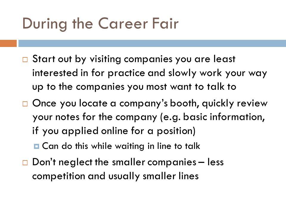 During the Career Fair