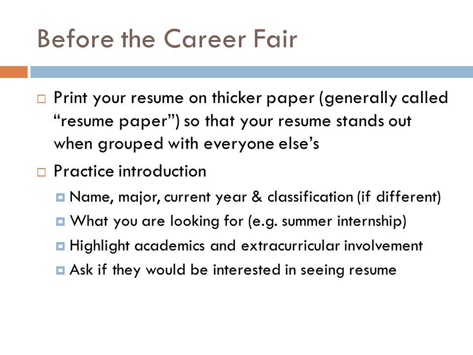 carreer fair reaction paper