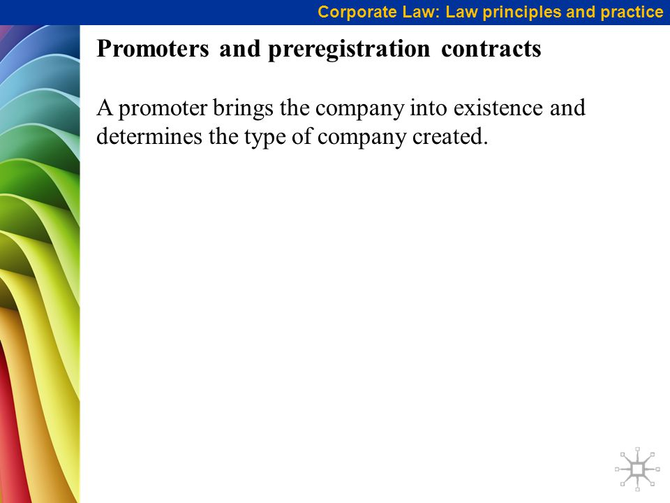 Promoters and preregistration contracts