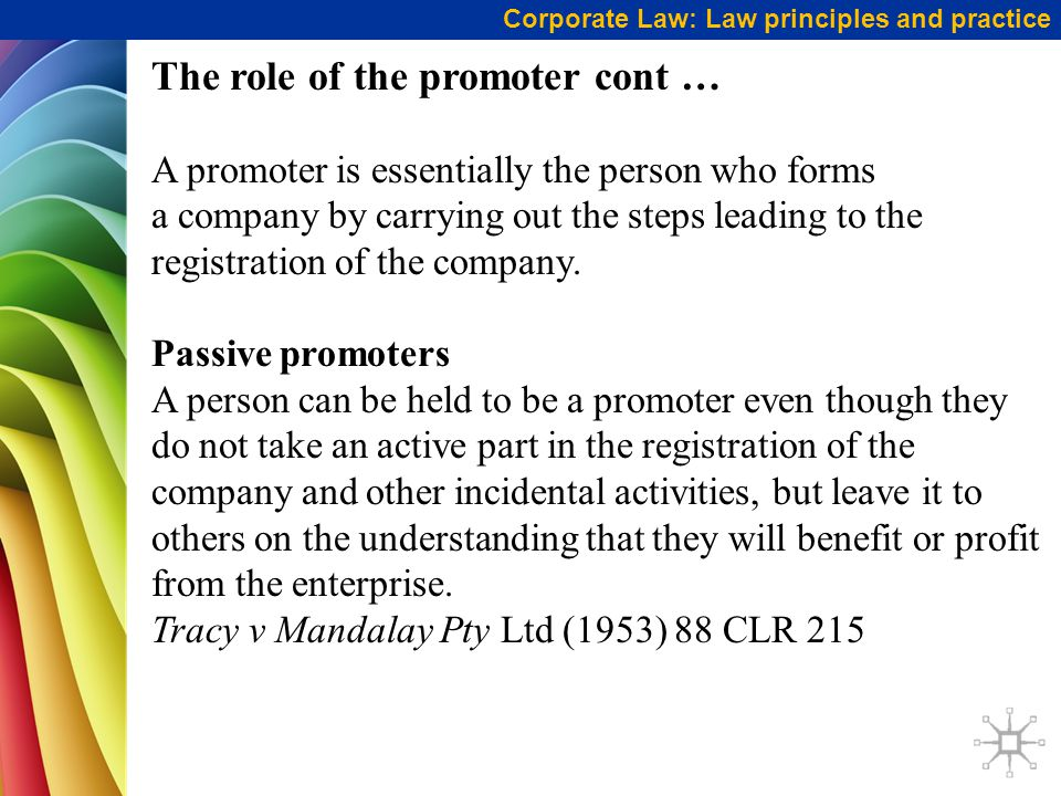 The role of the promoter cont …