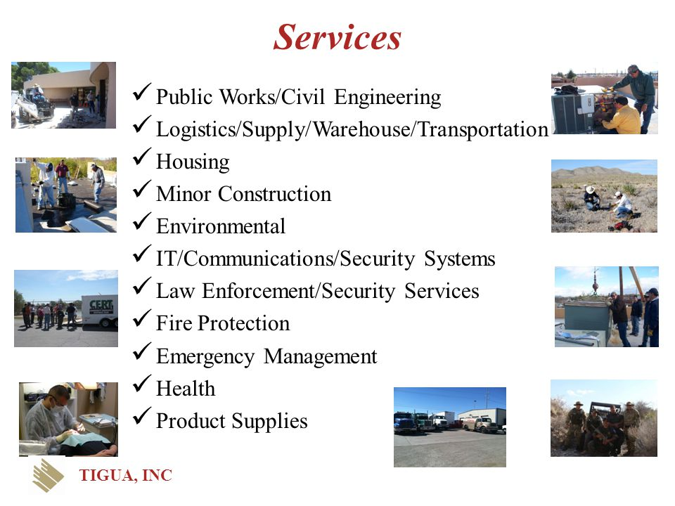 Services Public Works/Civil Engineering