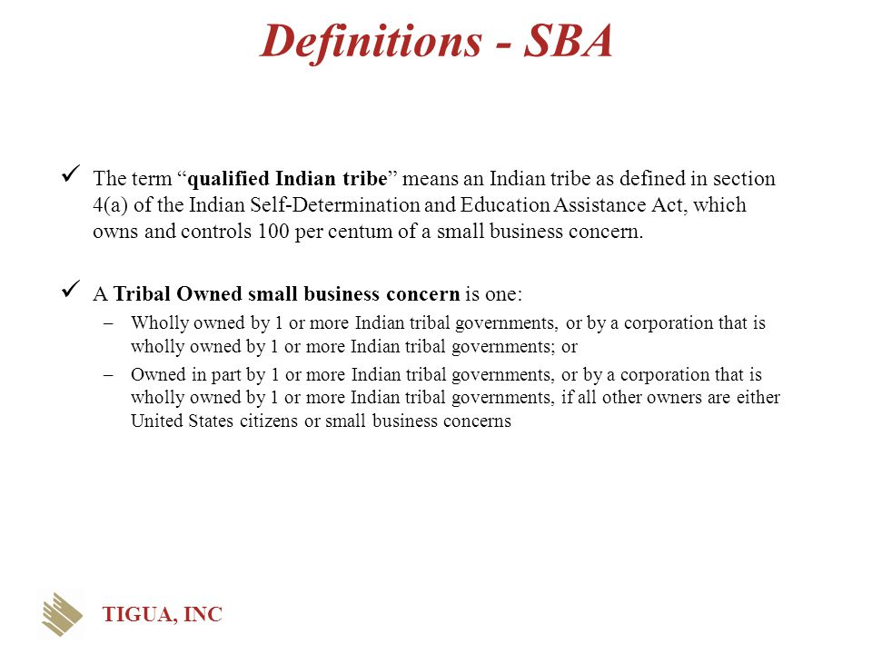 Definitions - SBA