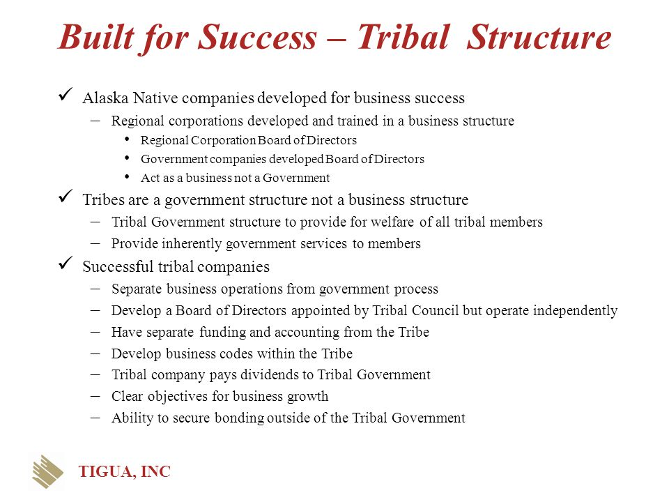 Built for Success – Tribal Structure