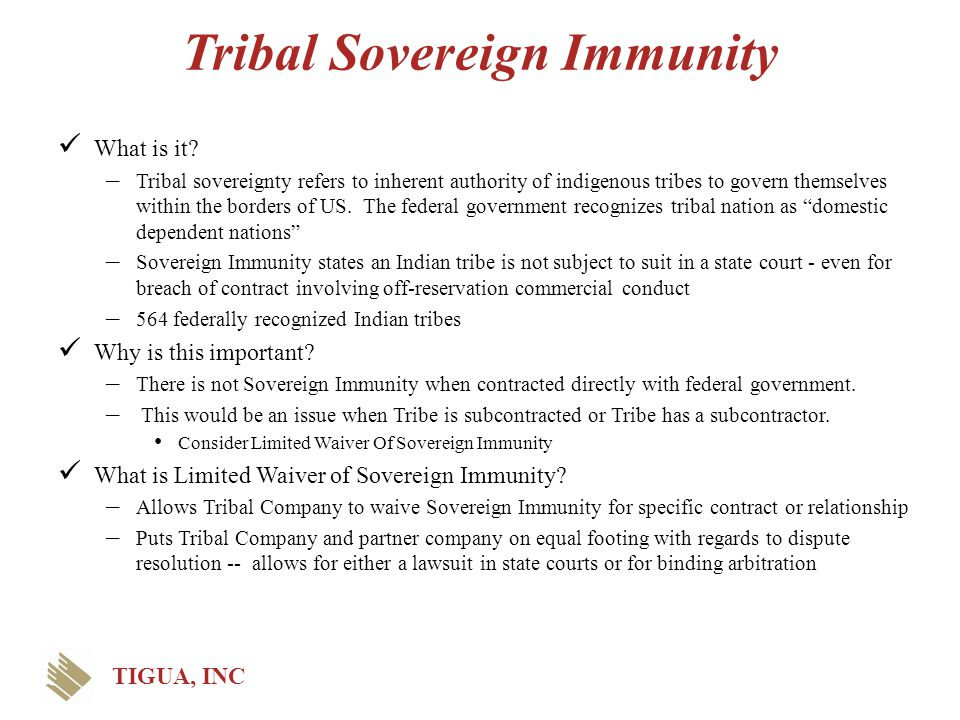 Tribal Sovereign Immunity