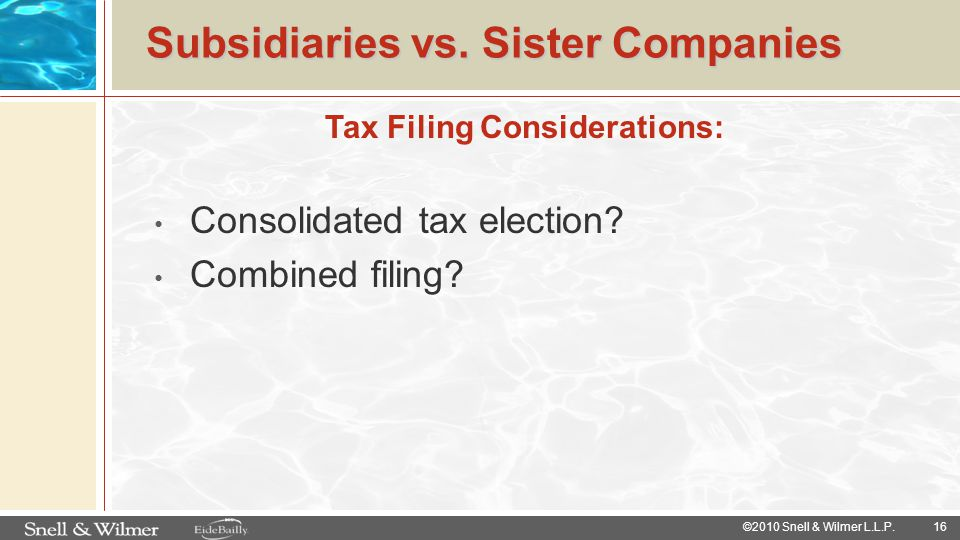 Subsidiaries vs. Sister Companies