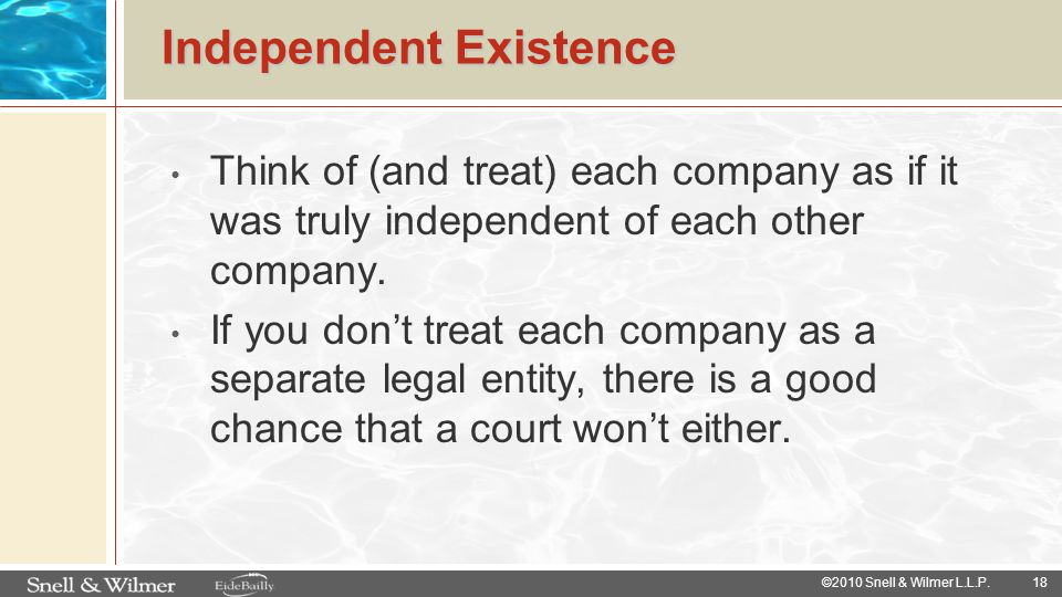 Independent Existence