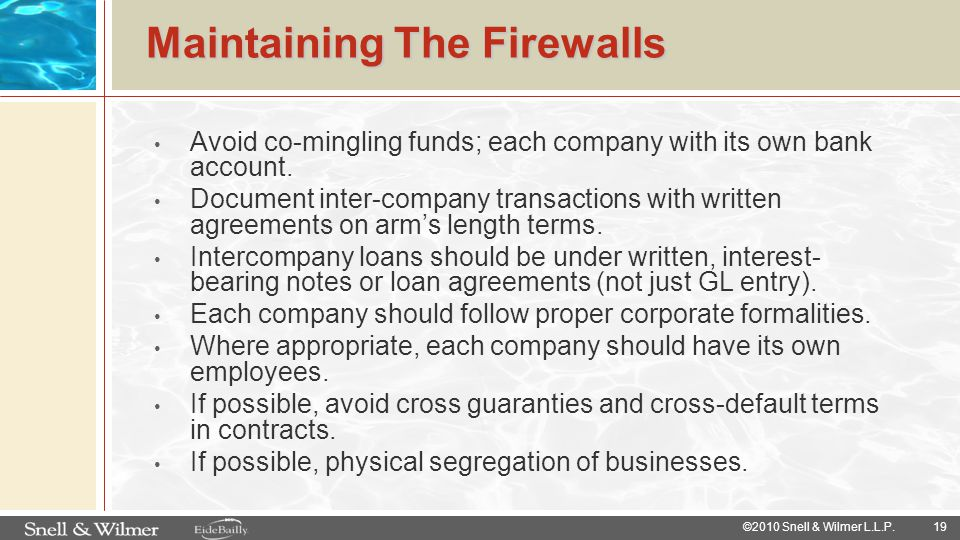 Maintaining The Firewalls