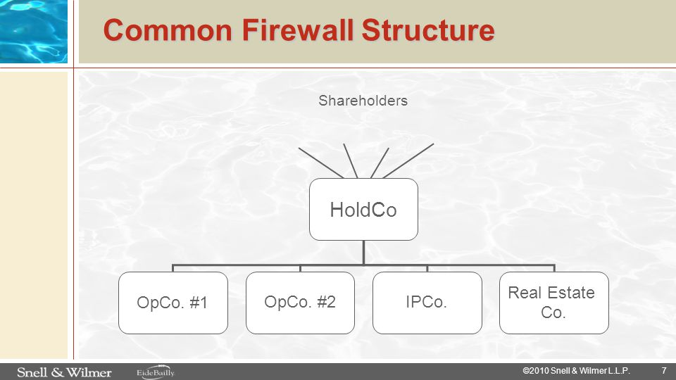 Common Firewall Structure