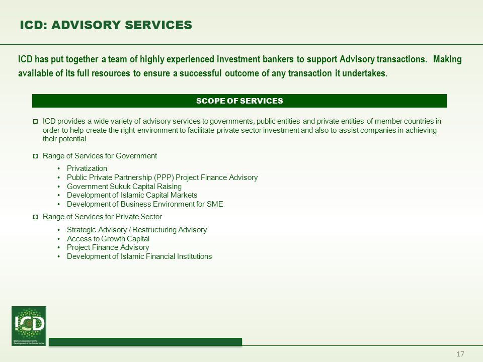 ICD: ADVISORY SERVICES