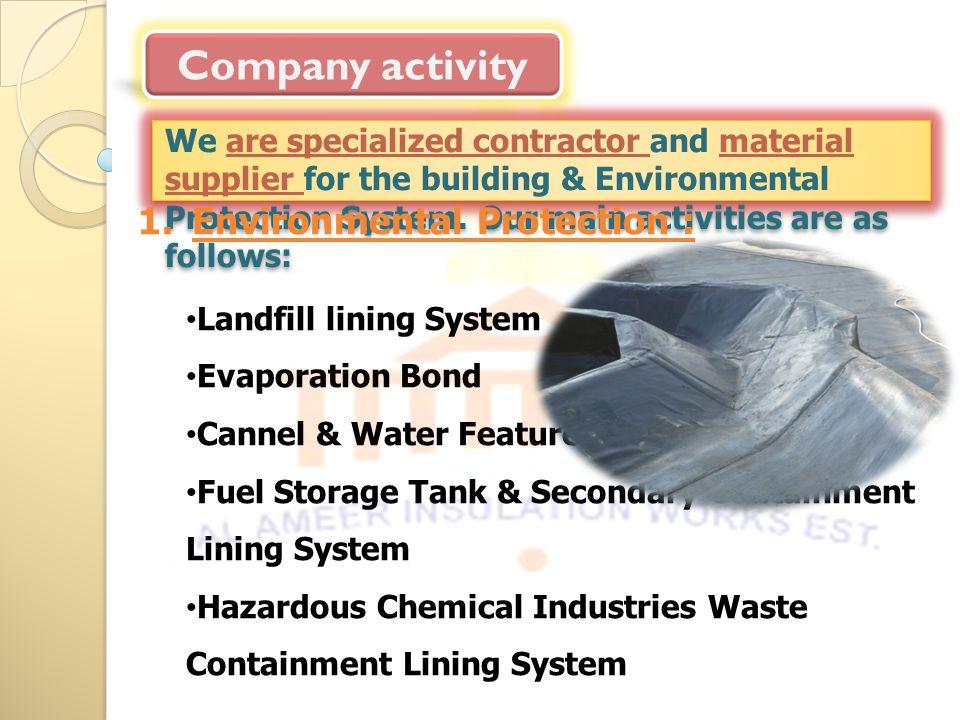 Company activity Environmental Protection :