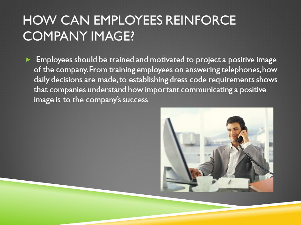 How can employees reinforce company image