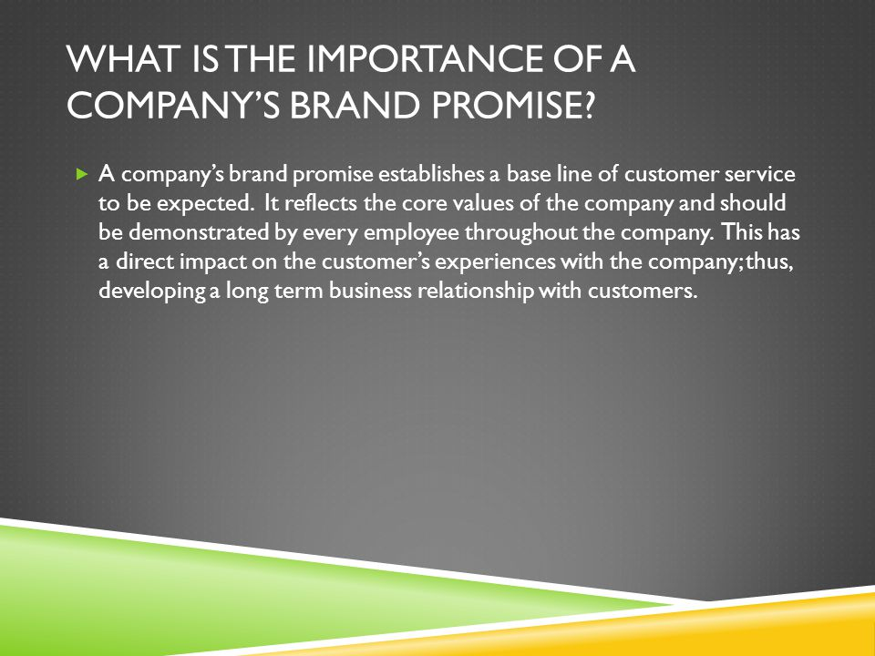 What is the Importance of a Company's Brand Promise