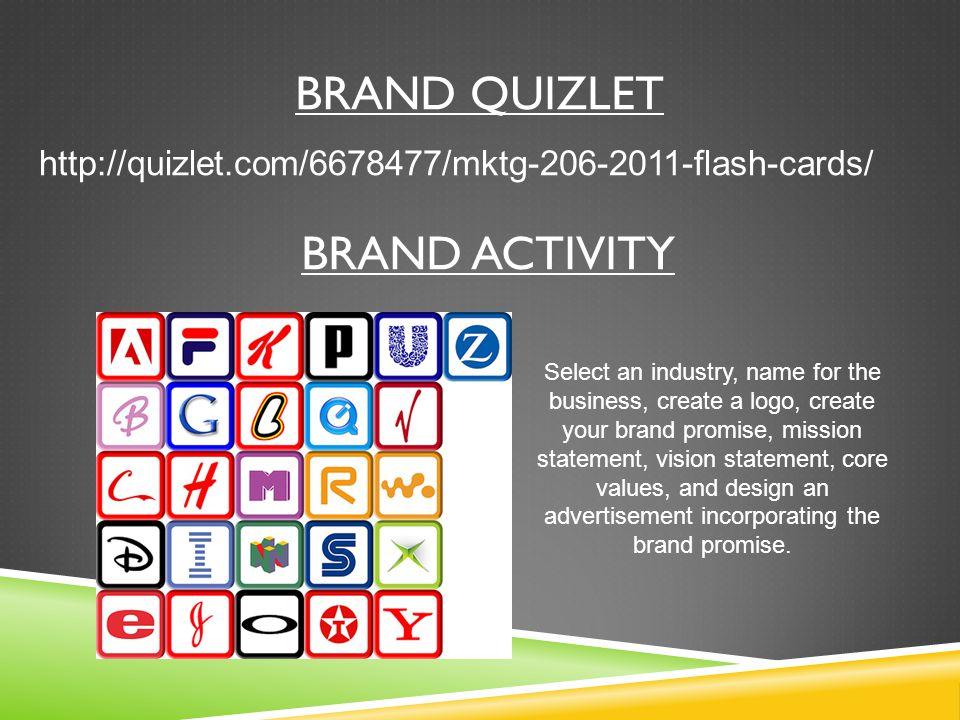 Brand Quizlet Brand Activity
