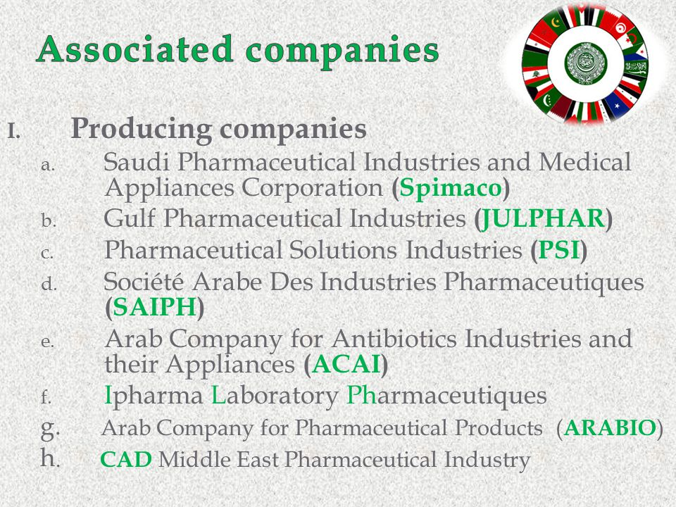 Associated companies Producing companies