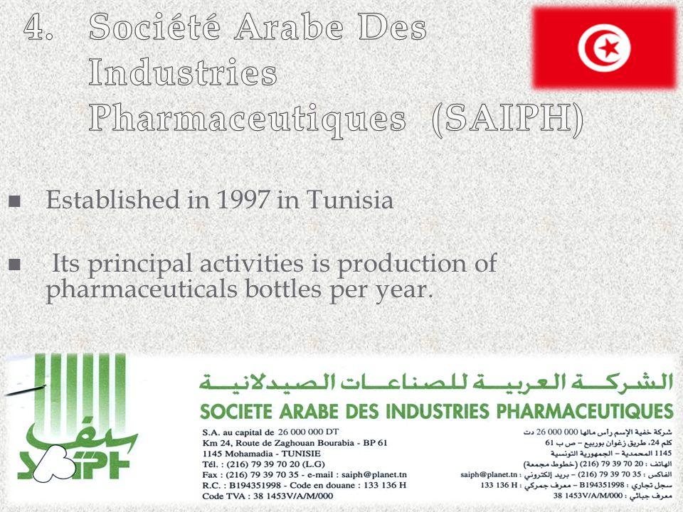 4. Société Arabe Des Industries Pharmaceutiques (SAIPH)