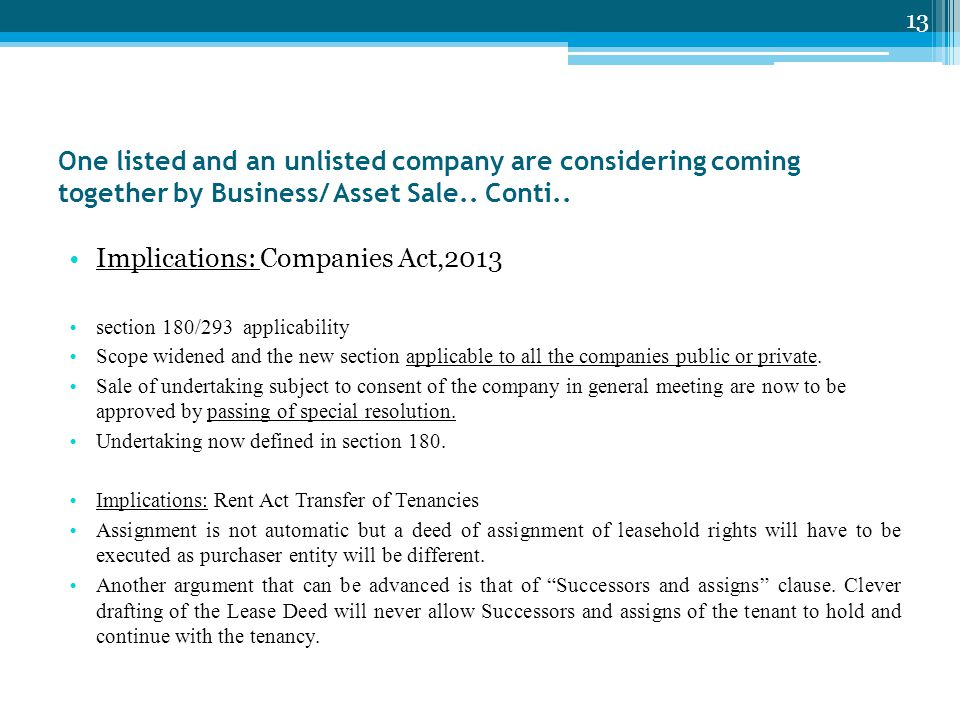 Implications: Companies Act,2013