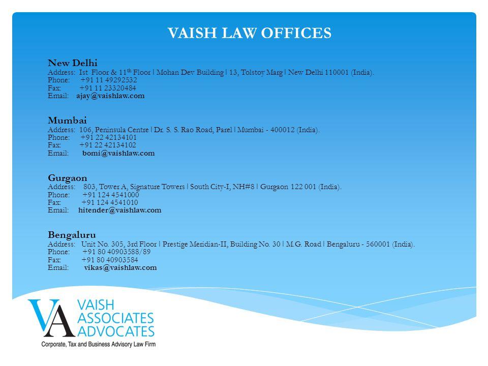VAISH LAW OFFICES New Delhi