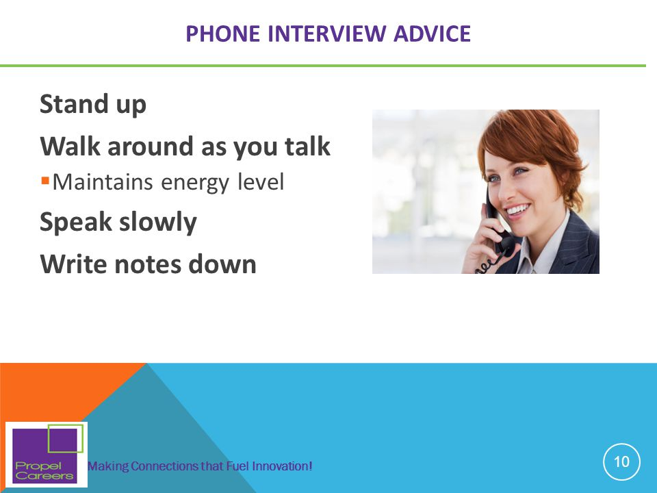 Phone Interview Advice