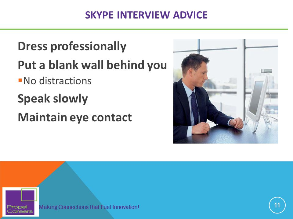 Skype interview advice