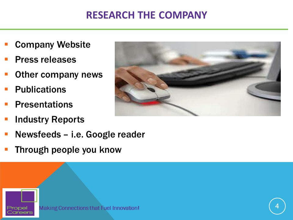 RESEARCH THE COMPANY Company Website Press releases Other company news