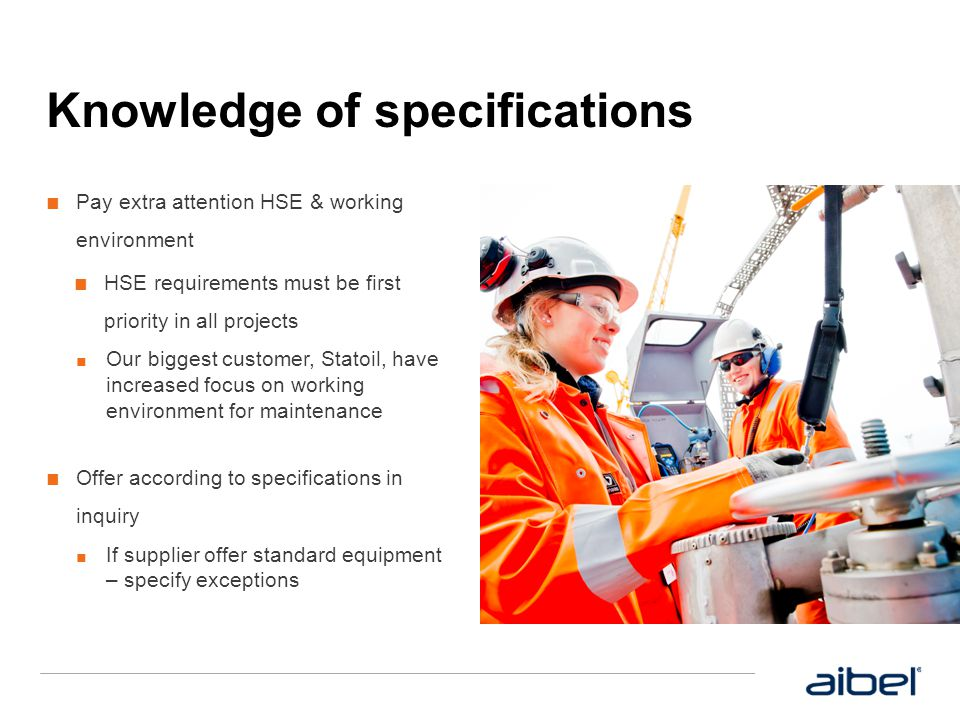 Knowledge of specifications
