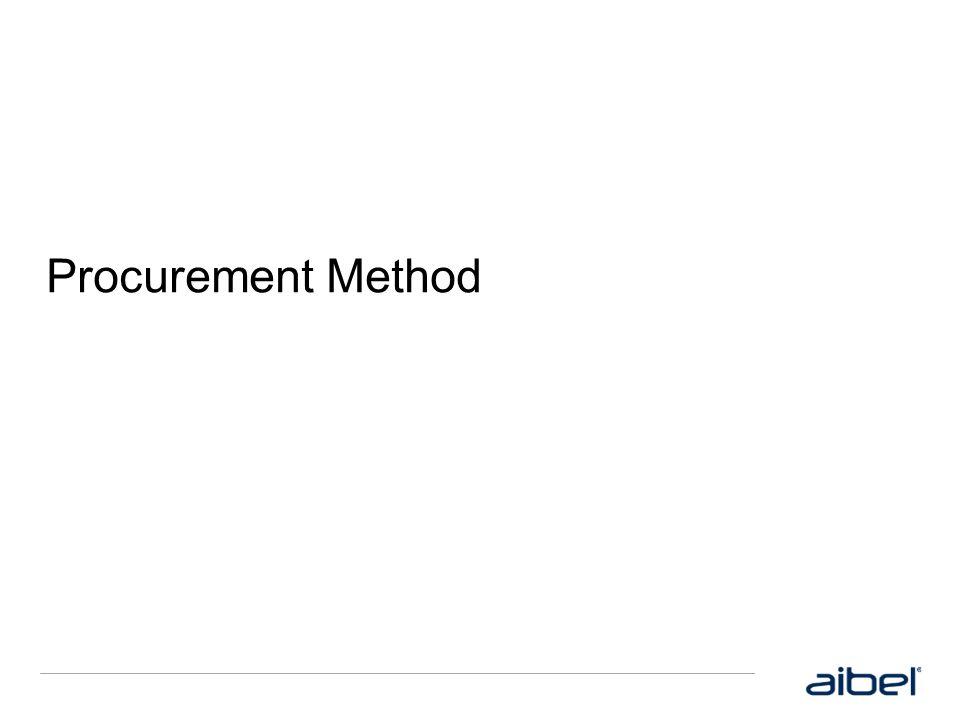 Procurement Method Dine notater