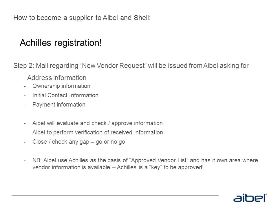 How to become a supplier to Aibel and Shell: