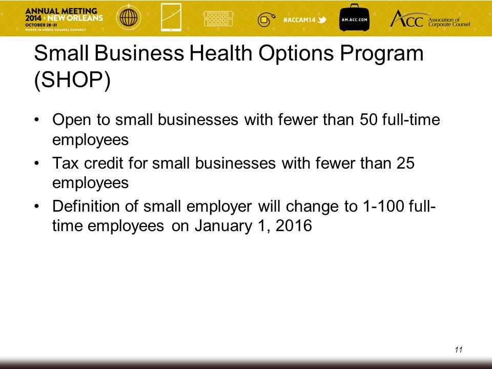 Small Business Health Options Program (SHOP)