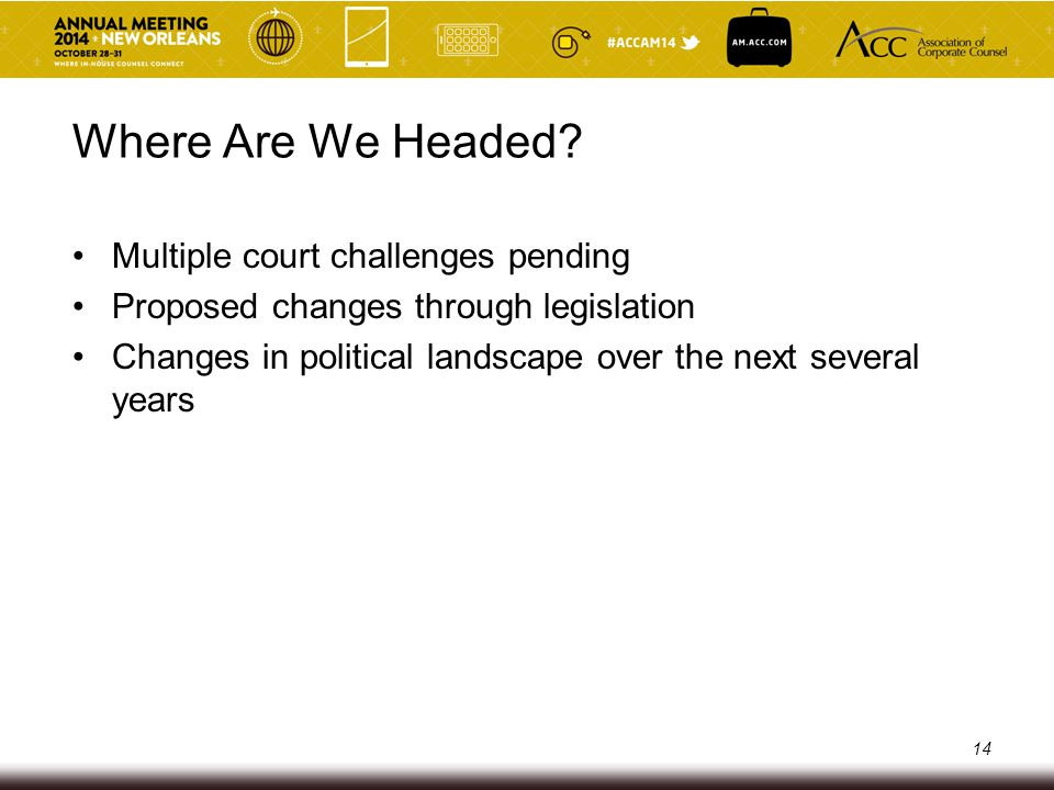 Where Are We Headed Multiple court challenges pending