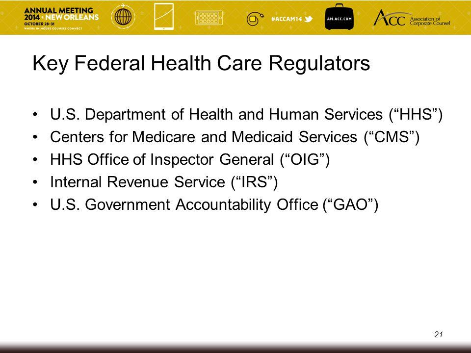 Key Federal Health Care Regulators