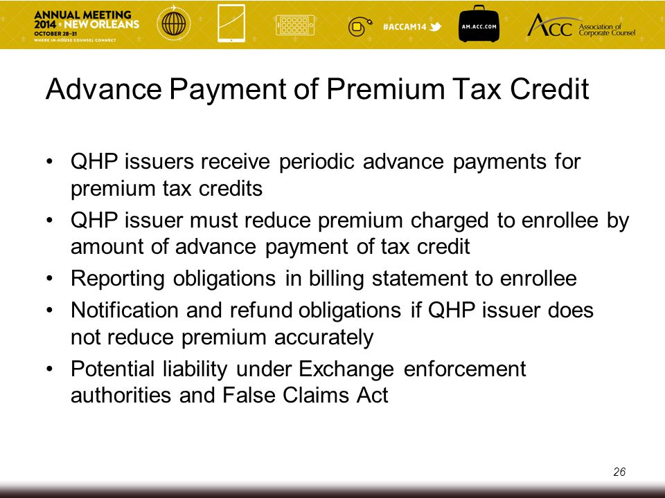 Advance Payment of Premium Tax Credit
