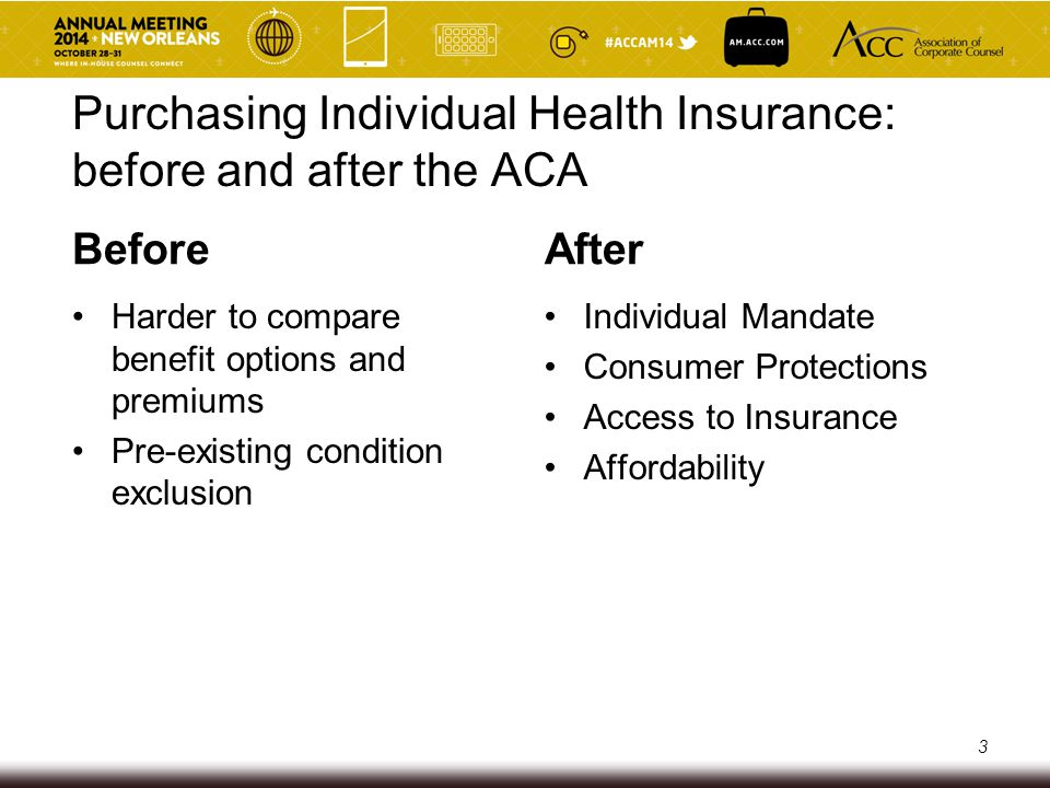 Purchasing Individual Health Insurance: before and after the ACA