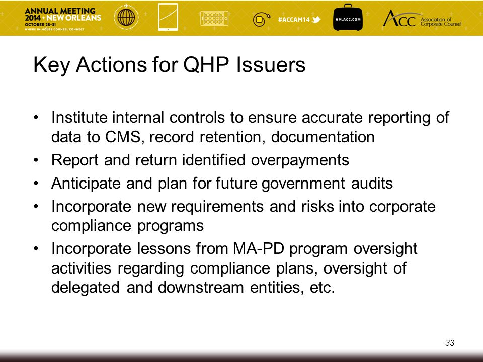 Key Actions for QHP Issuers