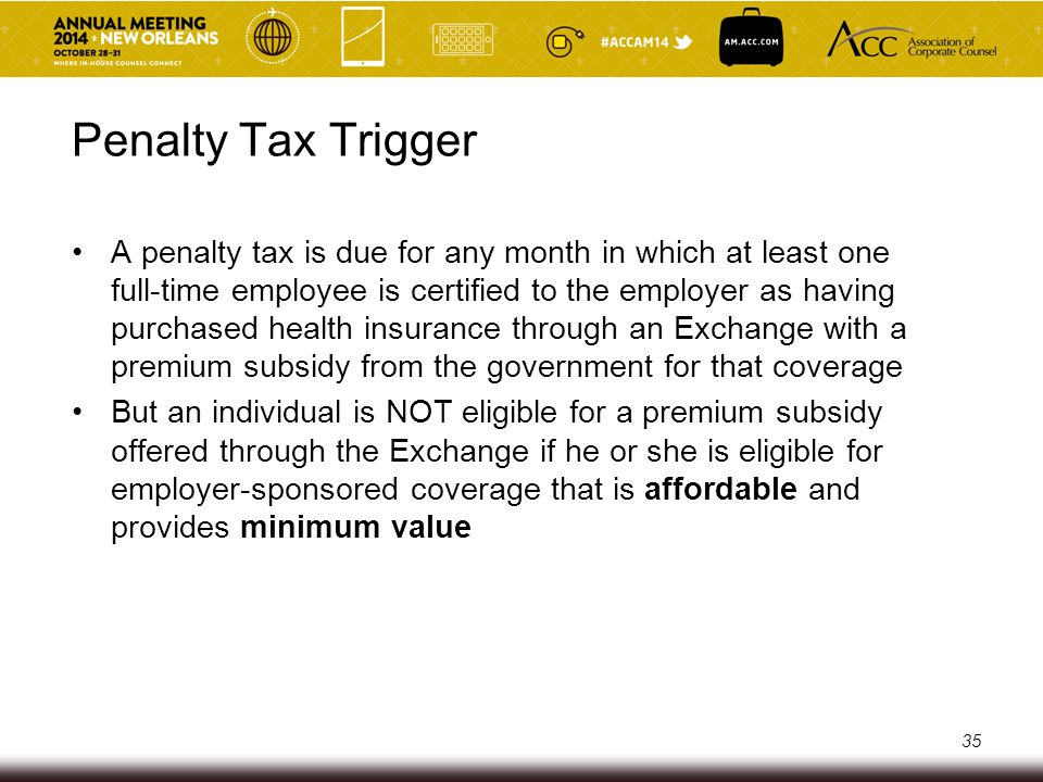 Penalty Tax Trigger