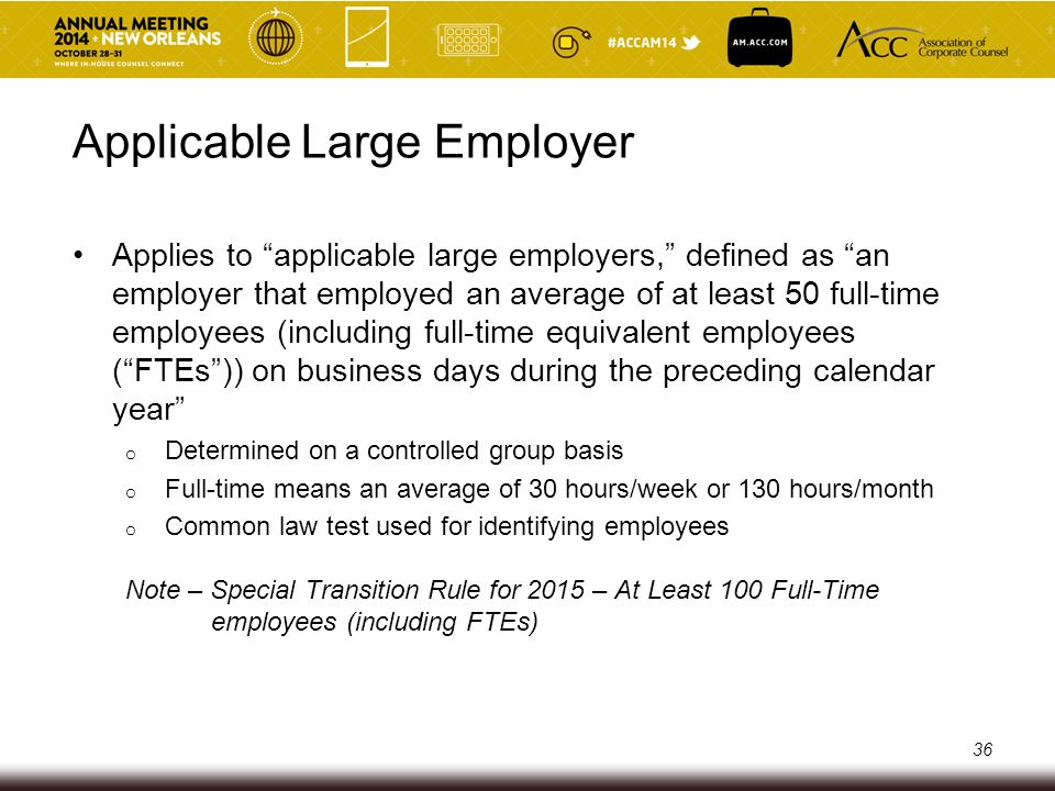 Applicable Large Employer