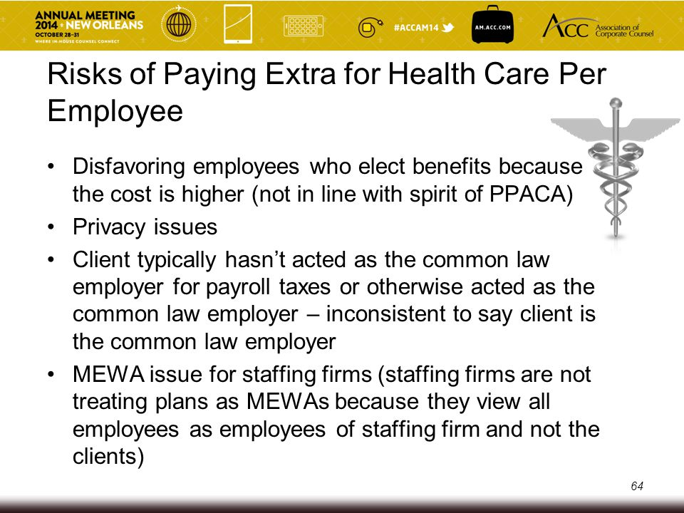 Risks of Paying Extra for Health Care Per Employee