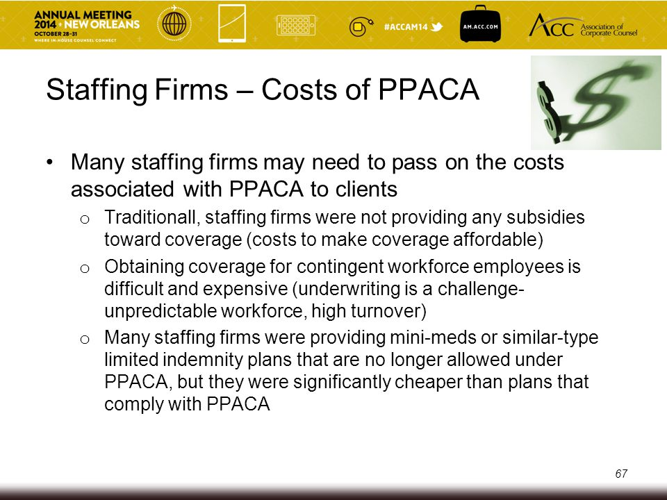 Staffing Firms – Costs of PPACA