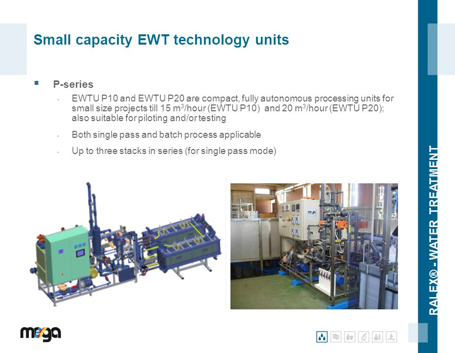 Small capacity EWT technology units