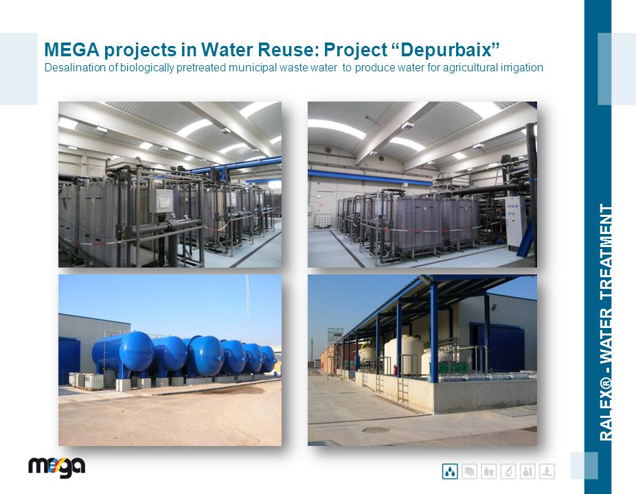 MEGA projects in Water Reuse: Project Depurbaix Desalination of biologically pretreated municipal waste water to produce water for agricultural irrigation