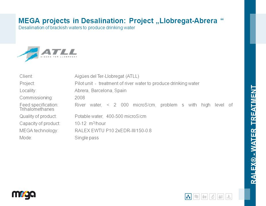 "MEGA projects in Desalination: Project ""Llobregat-Abrera Desalination of brackish waters to produce drinking water"