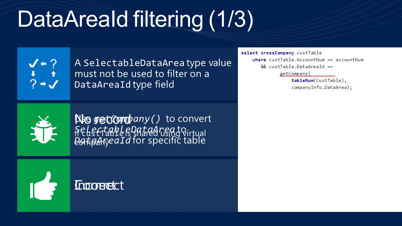DataAreaId filtering (1/3)