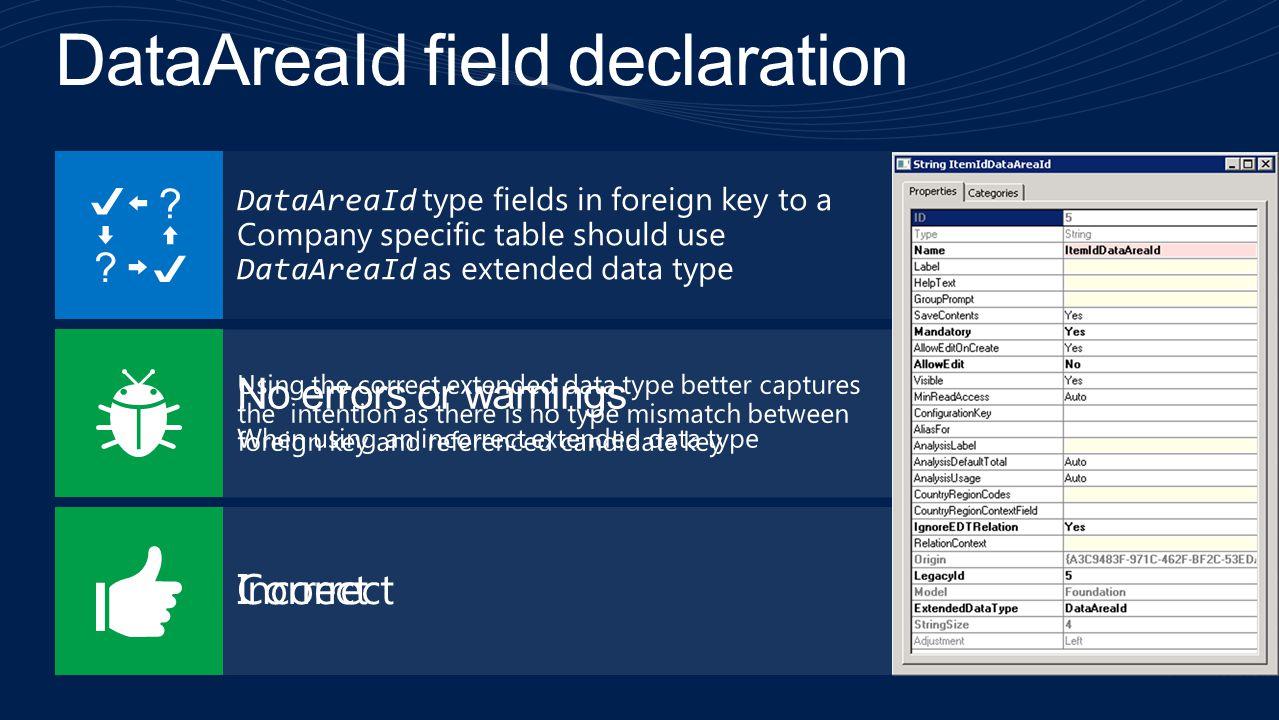 DataAreaId field declaration
