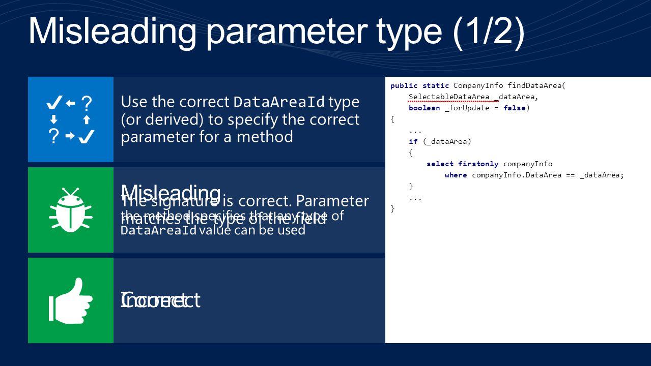 Misleading parameter type (1/2)