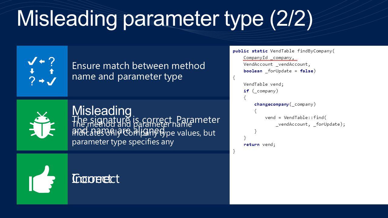 Misleading parameter type (2/2)
