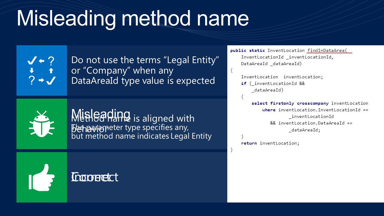 Misleading method name
