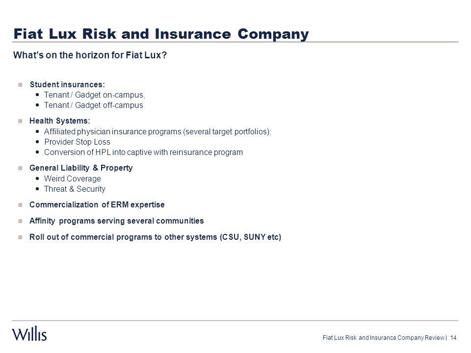Fiat Lux Risk and Insurance Company