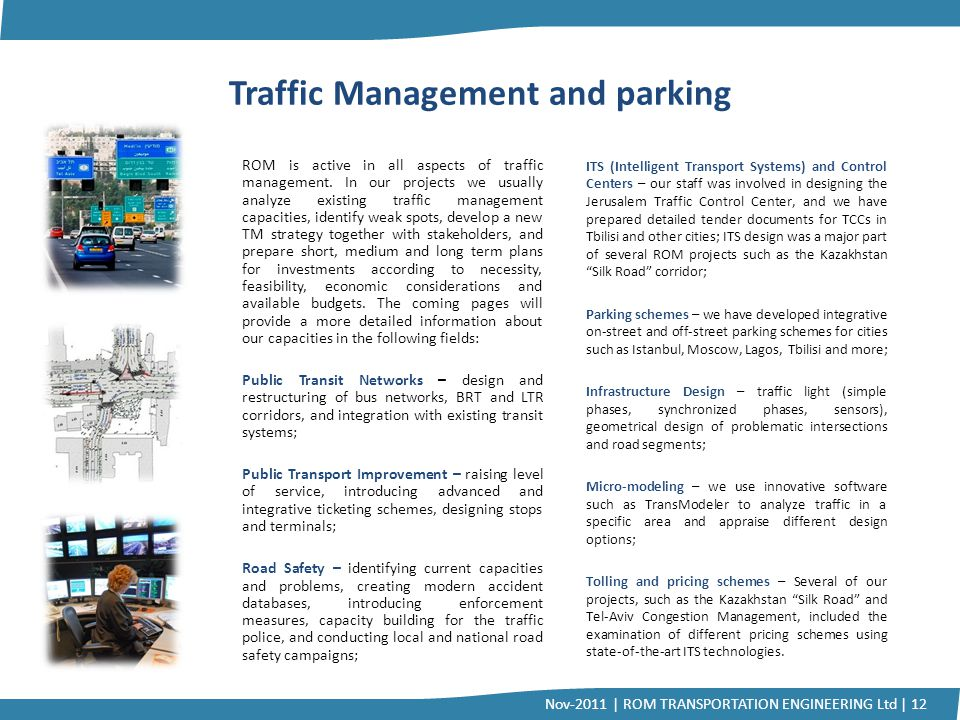 Traffic Management and parking