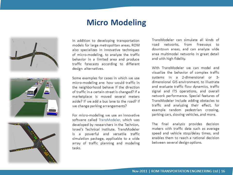 Micro Modeling