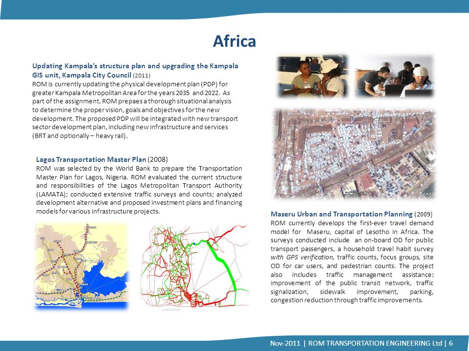 Africa Updating Kampala's structure plan and upgrading the Kampala GIS unit, Kampala City Council (2011)