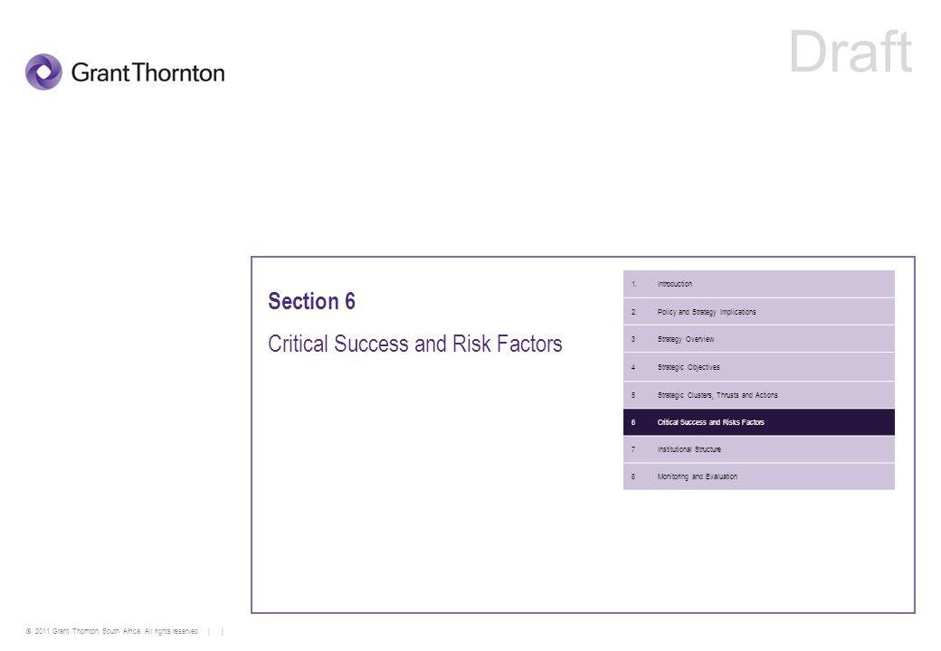 Critical Success and Risk Factors